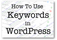 How To Use Keywords In WordPress