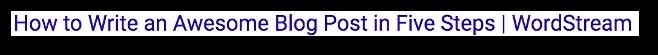 Google SERP Title Example